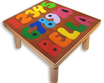 NAME PUZZLE STOOL | Numbers