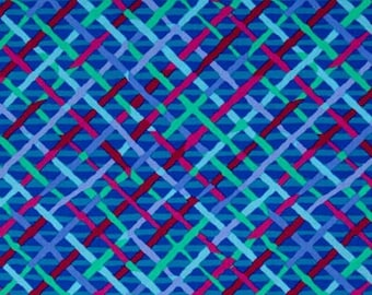 MAD PLAID in COLBALT Blue by Brandon Mably  1 yard  Westminster Fabric Cotton, Quilt Craft and Apparrell fabric