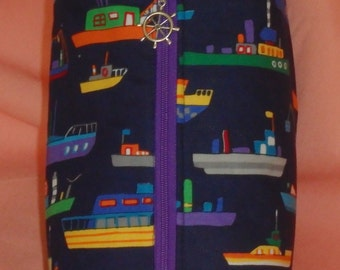 Nautical Bag, Travel Bag, Go Bag, Ditty Bag, Toiletry Bag, Pencil Case, Wet Sack, Zippered Pouch, Gifts for Captains, Nautical Gifts