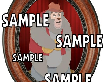 Disney World Magic Kingdom Frontierland Country Bear Jamboree Big Al Scrapbook Embellishment Paper Die Cut Piece