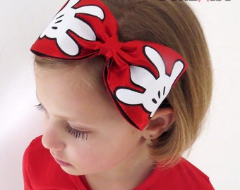 Adorable Mickey Hands Headband - cheer - by FunBows !