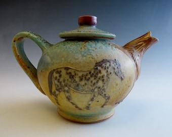 Sm Teapot Leopard Appaloosa Horses & Trees