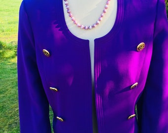 Cadburys Purple 80's Vintage Ladies Jacket UK 10 - W Germany