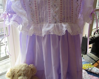 Heirloom Dress with Overlay for Portrait, Wedding, Communion