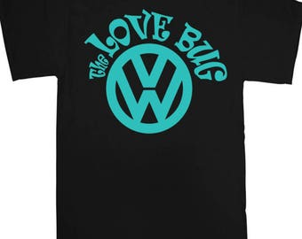 The Love Bug T-Shirt - DUB VW Bug car German Passat Beetle Golf Gift Dublife Volkswagon