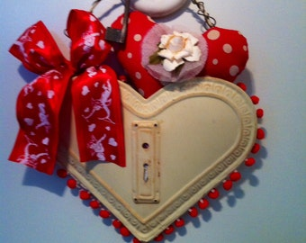 Tin Valentines Day hanging heart gift