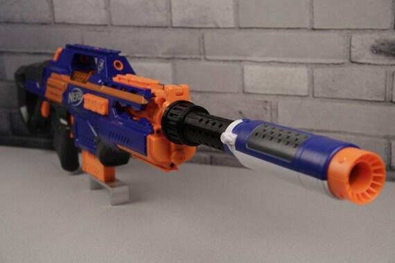 3D Printed – Vented Barrel Extension for Nerf Silencer/Suppressor
