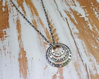 Inspirational Travel Necklace - Inspirational Quote Jewelry Travel Necklace -  Personalized Travel Gift