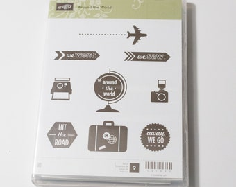 Stampin' Up! Around the World retired clear mount stamp set