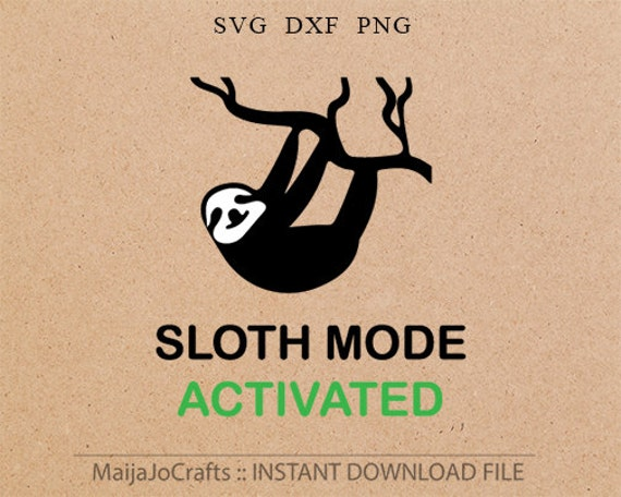 Funny Svg Animals Cute Sloth Clipart Digital Download