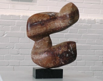 abstract stone sculpture, indoor sculpture, modern sculpture, stone sculpture, abstract sculpture, 'Freedom', forms moving together