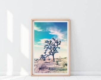 Desert Printable Print, Joshua Tree Print, Mojave Desert Print, Desert Wall Art, Joshua Tree Photo,Minimalist Landscape Print, Western Decor