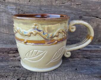 SALE***Mug, earthy, botanical, neutral, herbal