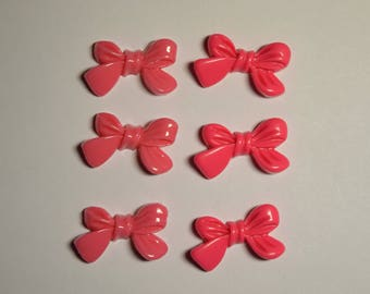 10 pc Kawaii Ribbon Bow Flat Back Decoden Cabochon for Scrapbooking, DIY Projects, and Crafts