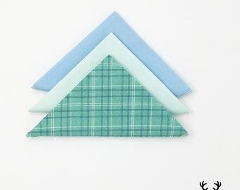 Teal Pocket Square, Blue Boys Pocket Square, Sea foam Green Pocket Square, Plaid Pocket Square, Mens Pocket Square, Groomsmen handkerchief