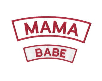 Custom Patches for Mama Jackets Custom Back Patch Biker Patch Custom Patch Rockers
