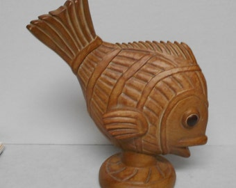 Designer Repros Vintage Hand Carved & Made Wood Fish Figurine