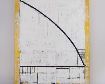 """Abstract Fine Art, """"Aria"""" / Line Work, Modern Art, Fine Art, Geometric Art, Art, Original Painting, Wall Art, Canvas Art, Acrylic"""