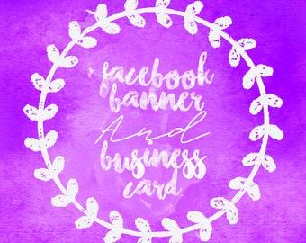 Facebook Banner, Custom Business Card, Digital Business Card
