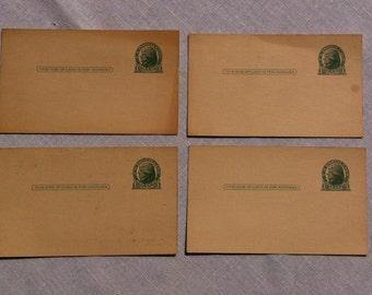 Uncanceled one cent USPS Postcards