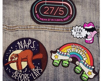 3  Iron On Roller Derby Patches