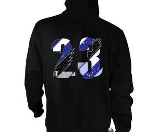 Blue suede 5s retro hoodie , TSC