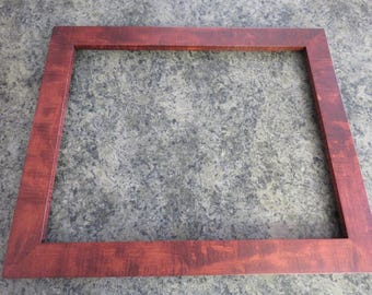 16 X 20 Curly Maple Reddish Brown Dye Picture Frame