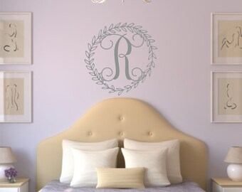 Monogram Sticker, Monogram Decal, Wall Decals, Vinyl Stickers, Girls Name Decal, Custom Name, Bedroom Wall Art, Kids Name Decal, Name Sign