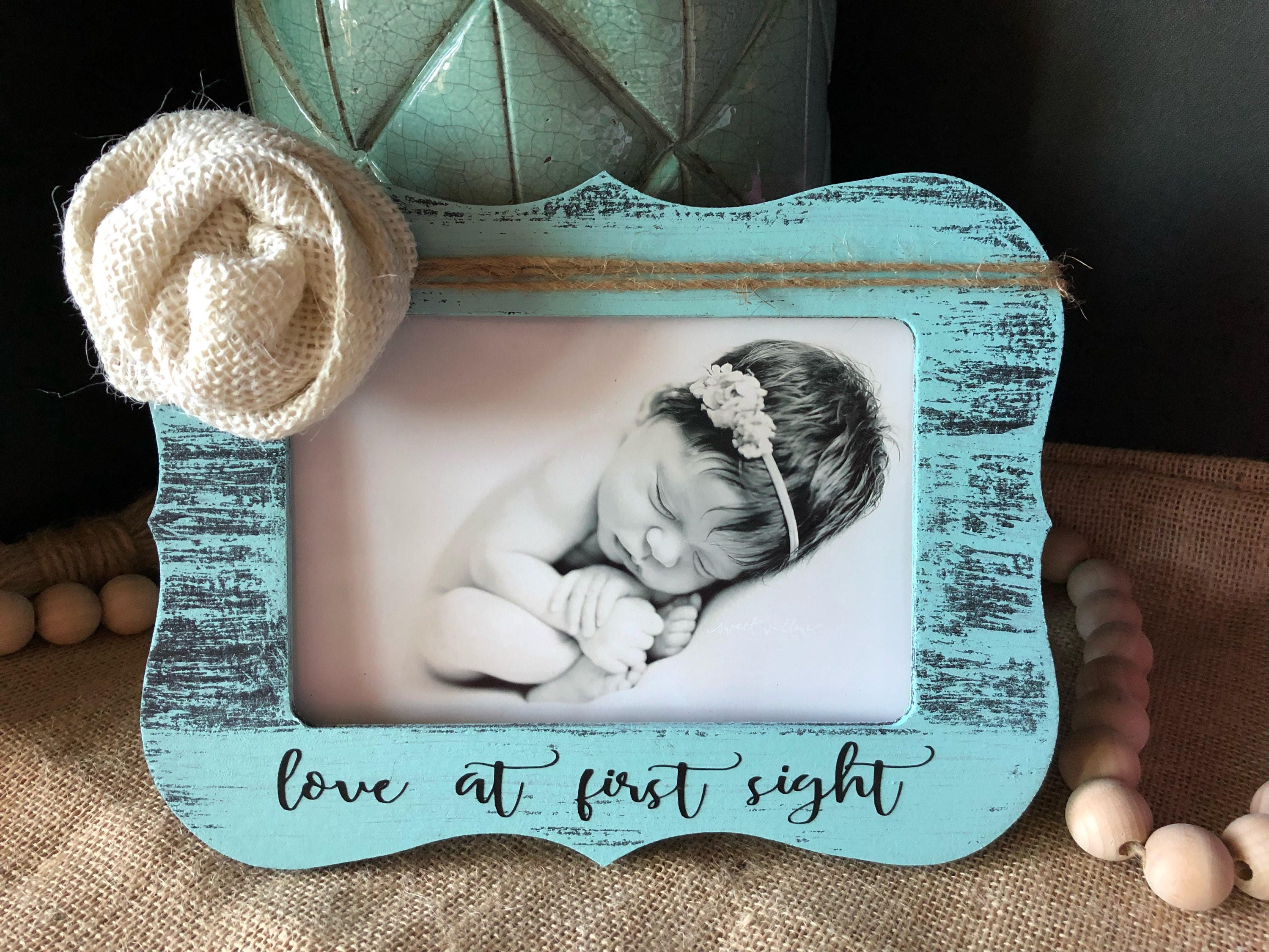 Love at first sight picture frame new baby gift personalized baby love at first sight picture frame new baby gift personalized baby gift ultrasound picture frame baby shower gift negle Images
