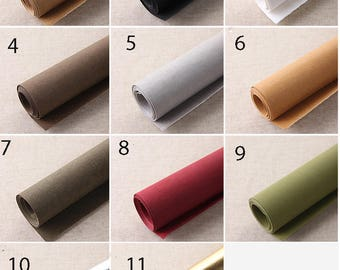 150 cm / 59 inch Width,  Washable Kraft Paper Fabric for Handmade Purse Bag Cloth etc, Half Yard, 11 Colors Availuable
