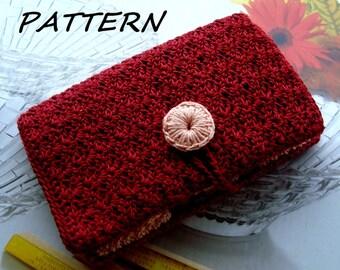 CROCHET purse Pattern, Crochet Card Wallet pattern, Card Holder pattern, Women's card wallet pattern,Card Case pattern,Digital/PDF pattern