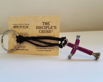 Disciple's Cross Keychain Pick Your Color Fully Adjustable