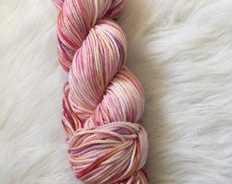 Sunset, worsted hand dyed, 100% Cotton
