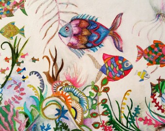 The Return of the Disco Fish! - Original Watercolor