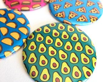Avocado Pocket Mirror | Cute Compact Mirror | Avocado Lover Gift
