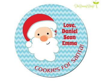 Santa Cookie Plate for Kids - Personalized Santa Cookie Plate - Santa Christmas Plate - Personalized Santa Face Plate - Santa Plate w/ Names