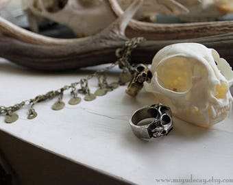 Miyu Decay Geminus Ring in Brass and Sterling Silver