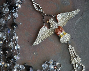 Rhinestone Eagle Necklace