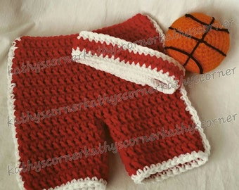 Basketball and Weight Lifting Set Newborn Pattern