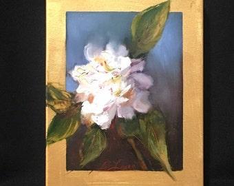 Peony, flower, original, painting, peony painting, floral wall art, white flower, flower painting, flower decor, Brenda Laney, floral