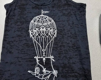 Up..Up.. and away - Aerial Tank Top / Aerial Clothing / Aerial Artist/ Aerialist / aerial fitness / circus / cirque
