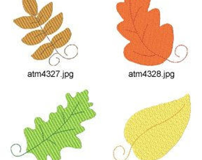Fall-Leaves ( 7 Machine Embroidery Designs from ATW ) XYZ17C