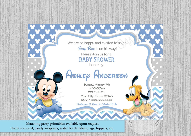 Disney Baby Mickey Baby Shower Invitations Mickey Baby Shower