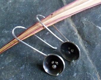 Industrial Sweet Pea Sterling earrings