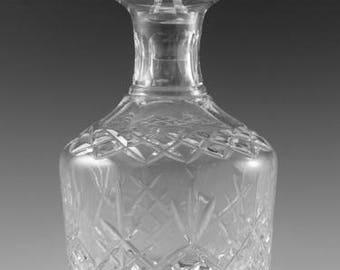 "EDINBURGH Crystal - LOMOND Cut - Round Spirit Decanter / Decanters - 8 1/4"""