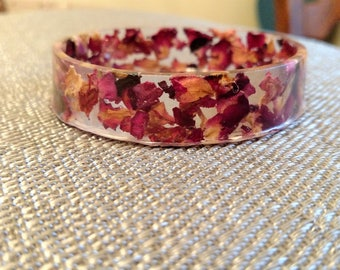 Rose petal skinny bangle