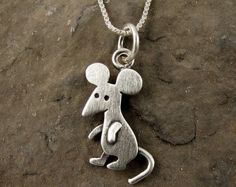 Tiny mouse necklace / pendant
