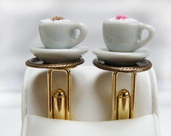 coffee for two, temtation on golden tablett, cufflinks