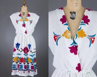 vintage 1970s colorful dress   PBJ