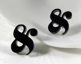 Elephant Ampersand Stud Earrings